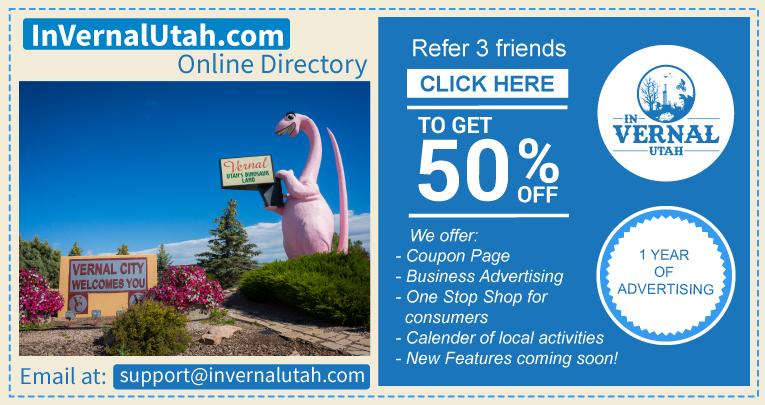 50% off In Vernal Utah
